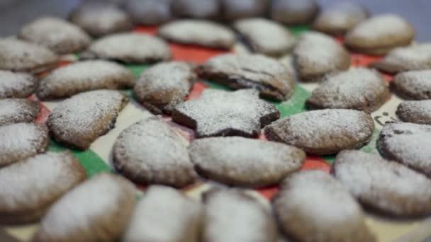 zblízka střílel chutné cookies prášku s vanilkovým cukrem