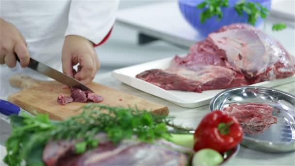 řezníci tabulka s červeného masa a zeleniny