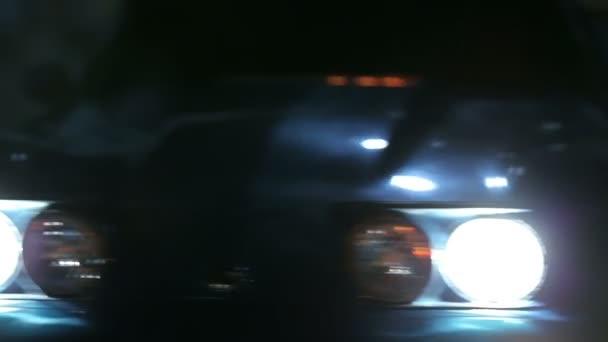 Corvette Gleaming In The City Lights