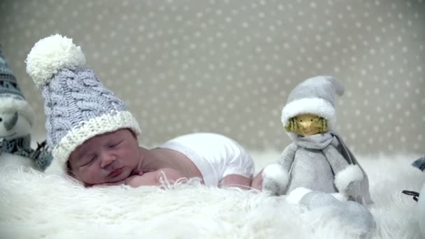 Baby sleeping within a winder looking like scene