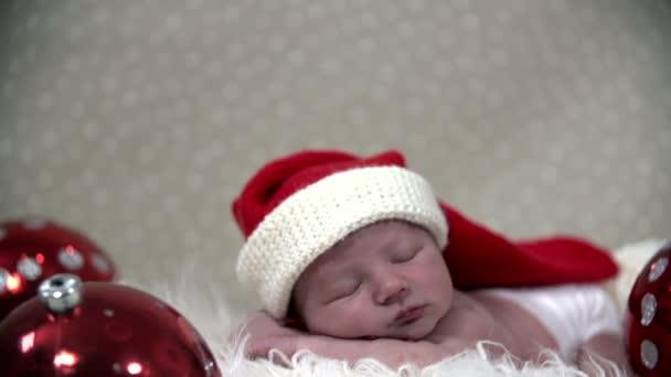 Babys spát v krásné vánoční scene