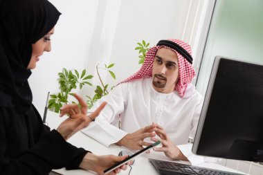 Arabic Business Couple In Office