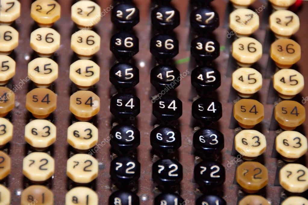 Detail of an old cash register keyboard — Photo by jandu
