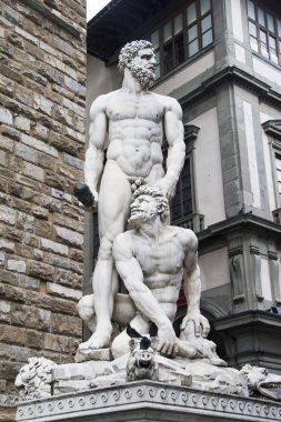 Italy, statue of Hercules and Cacus in Florencia