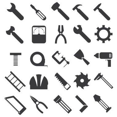 mechanical equipment icons set