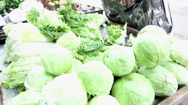 Vegetable shop at fresh public market community in Bangkok, Thailand