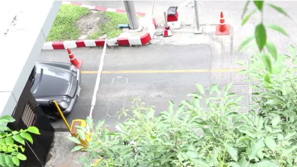 Automatic Road Barrier Gate at parking service area
