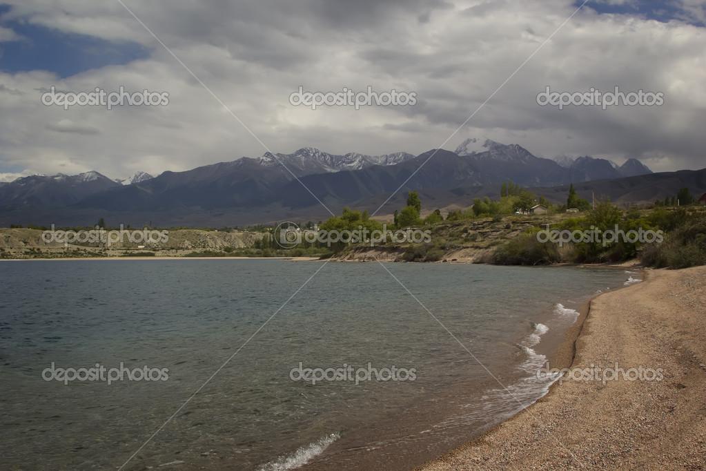 Issyk-Kul lake in Kyrgyzstan