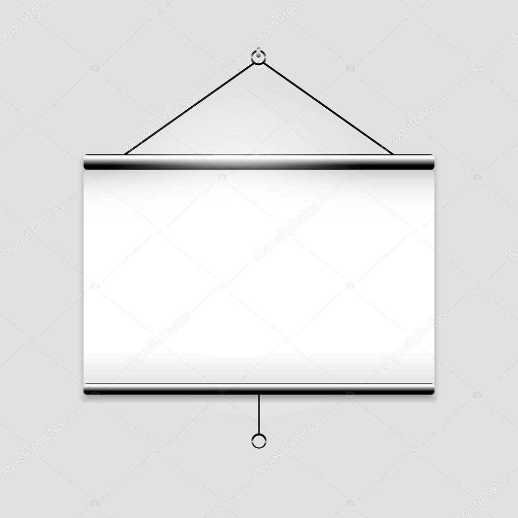 White screen projector clean background — Stock Vector