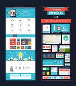 Seite Homepagevorlage. Web-design