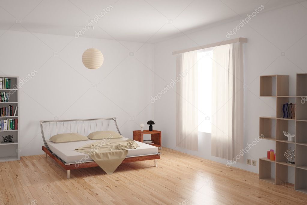 Neutrale Interieur Inrichting : Moderne slaapkamer interieur u2014 stockfoto © fabian19 #26832995