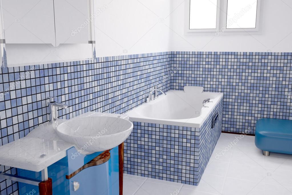 Bagno blu u foto stock fabian