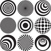černé a bílé optické umění