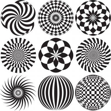 Black and white Optical Art