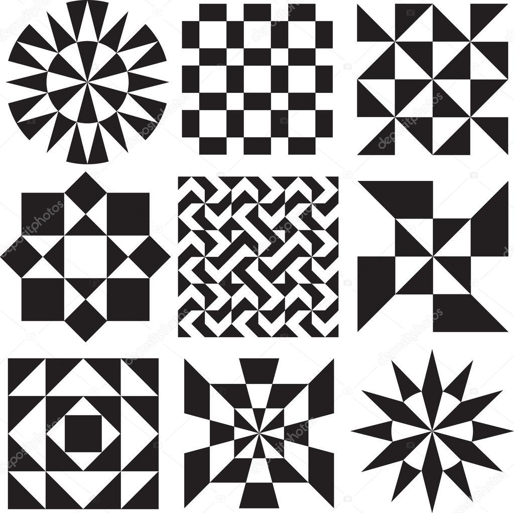 Disegni Geometrici Bianco E Nero ᐈ optical bianco e nero vettore di stock, disegni disegni