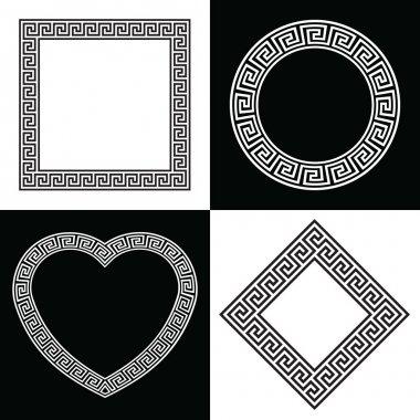 Collection of Greek Key Pattern Border Frames