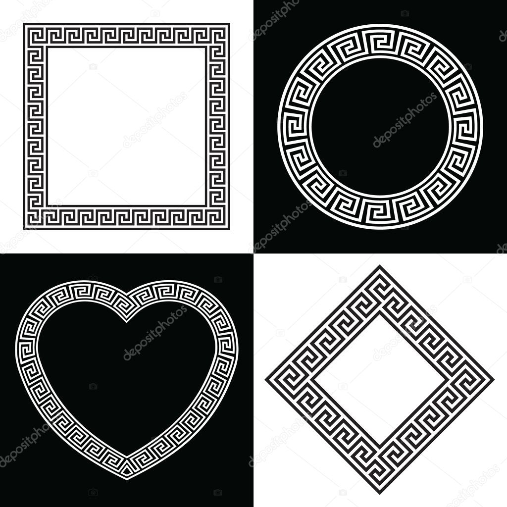 Four greek key pattern border frames stock vector raymondgibbs four greek key pattern border frames stock vector jeuxipadfo Choice Image