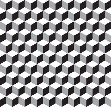 Seamless Geometric Cube Texture Pattern Background Wallpaper