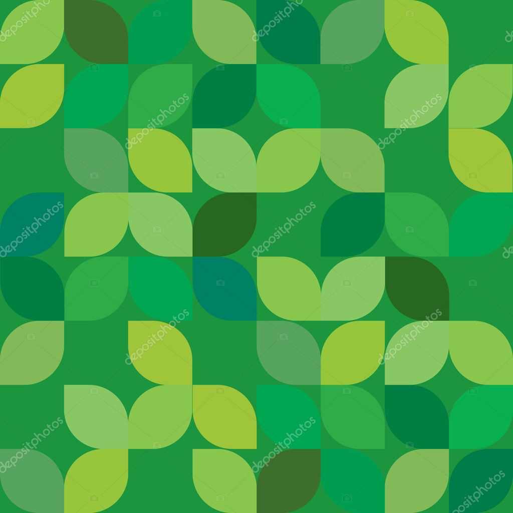 Seamless Abstract Green Leaf Background