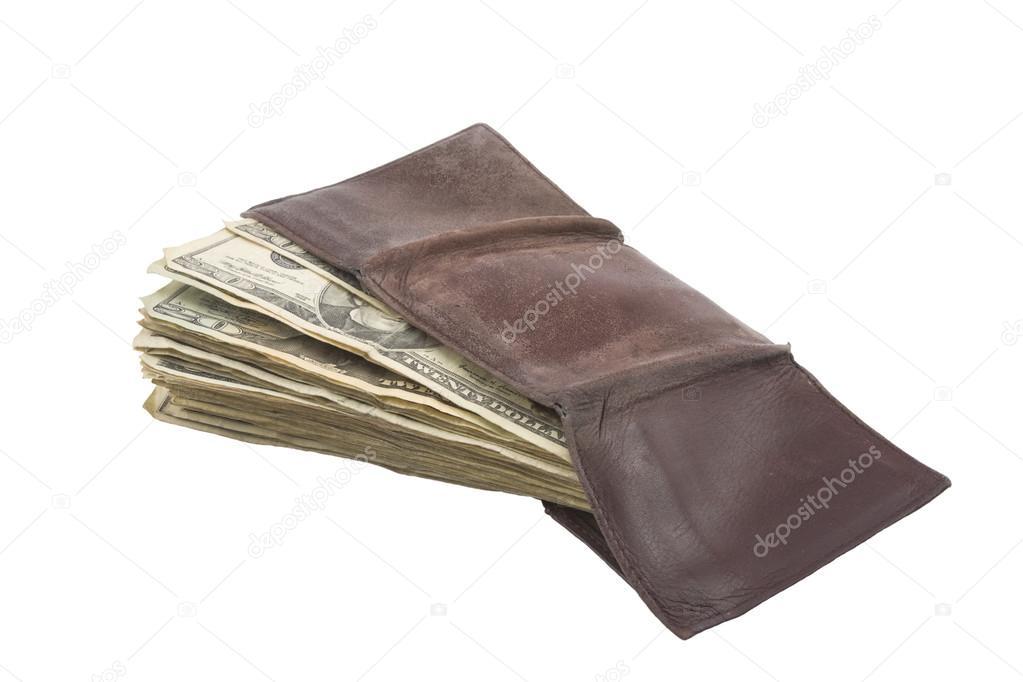 vendita limitata designer nuovo e usato sito web professionale Portafoglio pieno di denaro contante statunitense — Foto ...