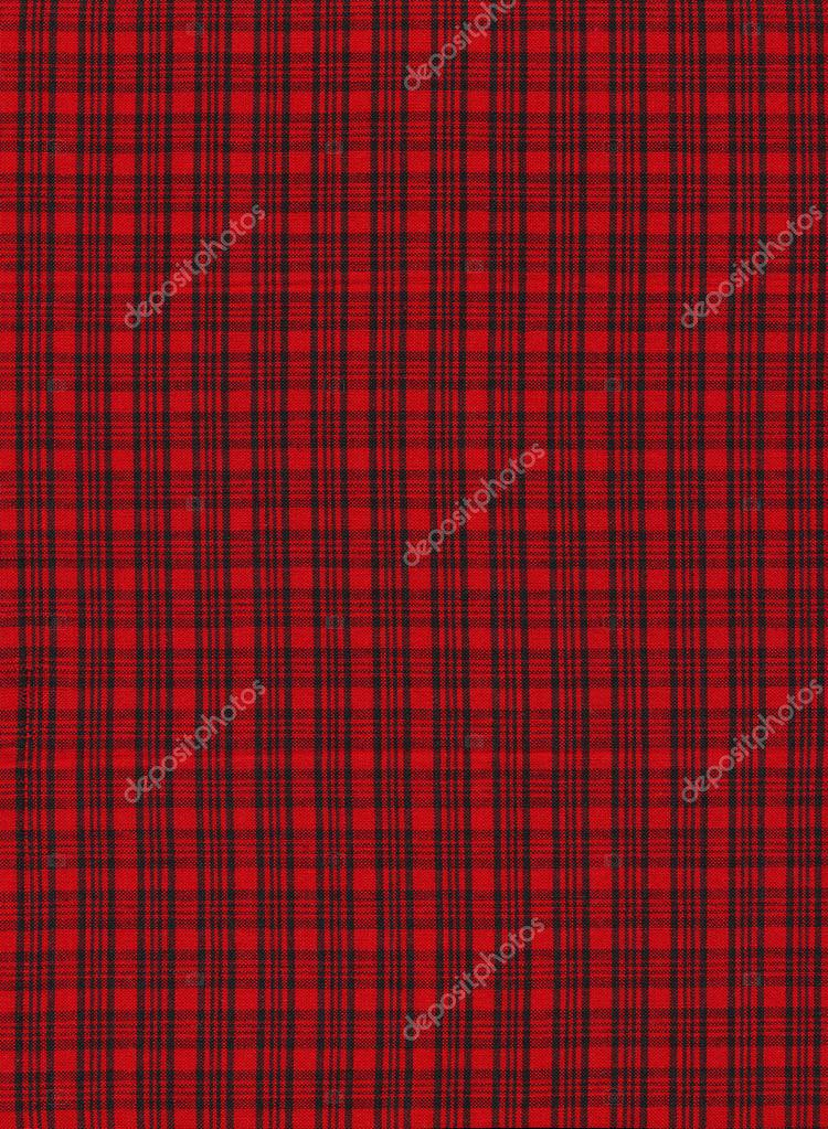 Red And Black Plaid Stripes Textile Fabric Background