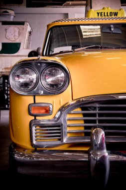 Old yellow taxi