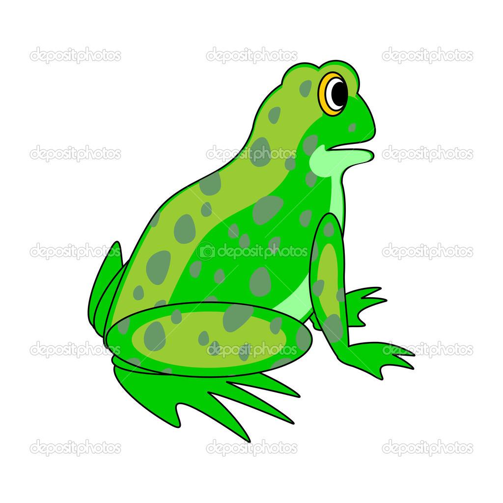 um sapo verde desenho animado vetor de stock amicabel 40234203