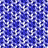 Fotografie Design seamless colorful geometric knitted pattern. Thread textu