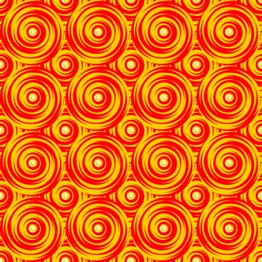 Design seamless colorful twirl pattern. Bright geometric circula