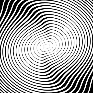 Design monochrome whirl circular motion background. Abstract str