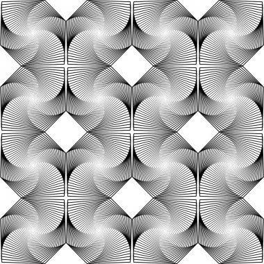 Design seamless monochrome decorative diamond geometric pattern