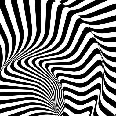 Design monochrome twirl movement illusion warped background