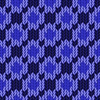 Design seamless colorful geometric knitted pattern