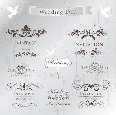 Set of wedding invitation