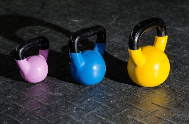 Kettlebells at the gym