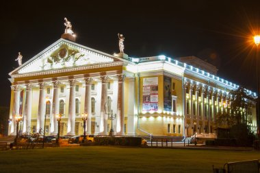 The building of the Opera and ballet theatre in Chelyabinsk, Russia