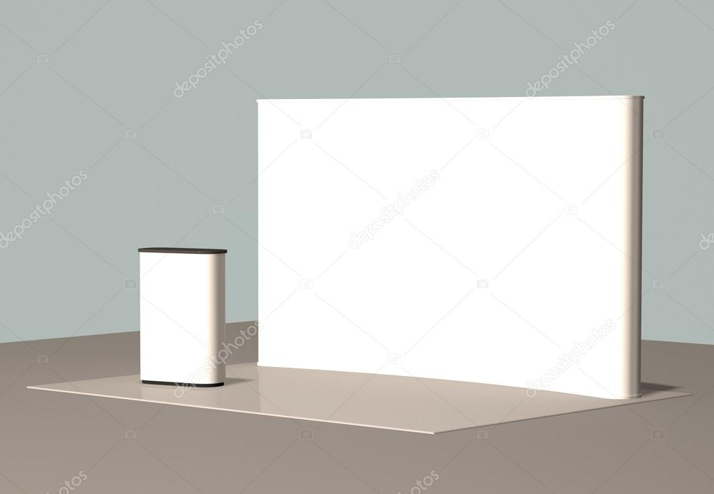 Exhibition Booth Vector Free Download : D background blank trade show booth for designers