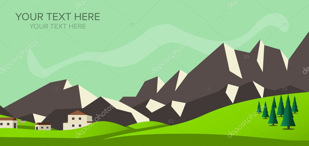 Banner mountain vector image