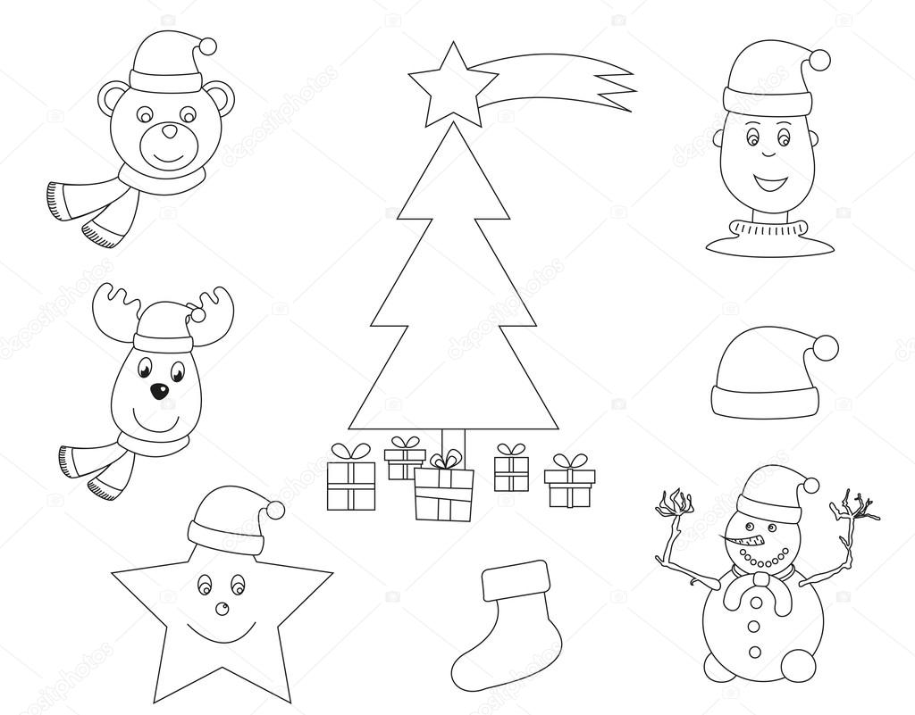 libro para colorear de Navidad — Archivo Imágenes Vectoriales ...
