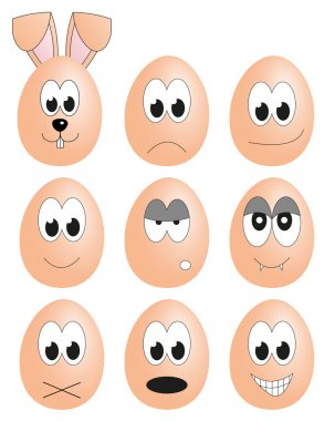 Egg faces collection