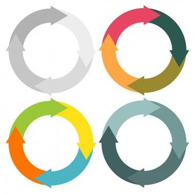 Round arrows set