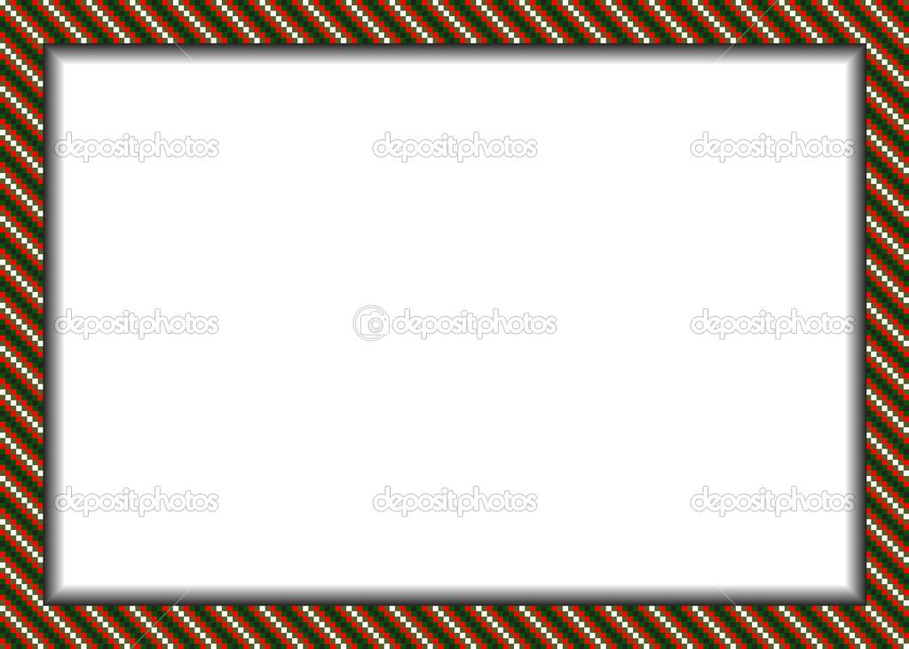 pixel estilo frontera (marco) en colores de Navidad — Vector de ...