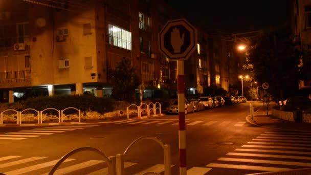 Rote Hand blinkt ist Stop-Schild in israel