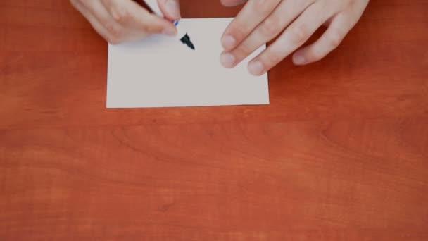 znamení otázka na bílá list