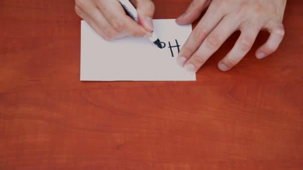 slova kolik na bílý list