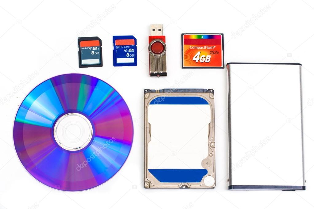 what are the types of storage devices