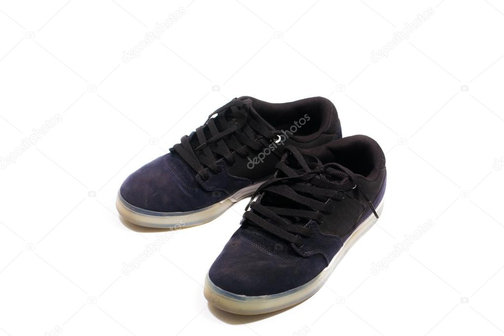 493924f5 Pair of fashionable black sneakers — Stock Photo © benedixs #40609959