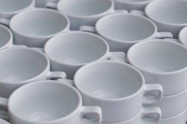Row of coffee cups