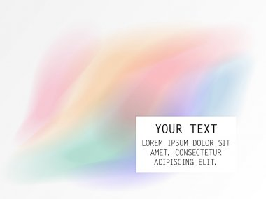 Watercolor background motive with text