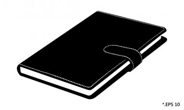 Diary book and notebook